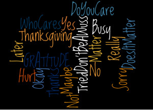 Beyond Thanksgiving Day: Does Being Thankful Make Any Difference?